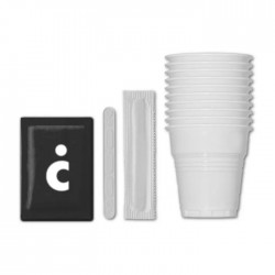 100 kit - cups, sugar, stirrer