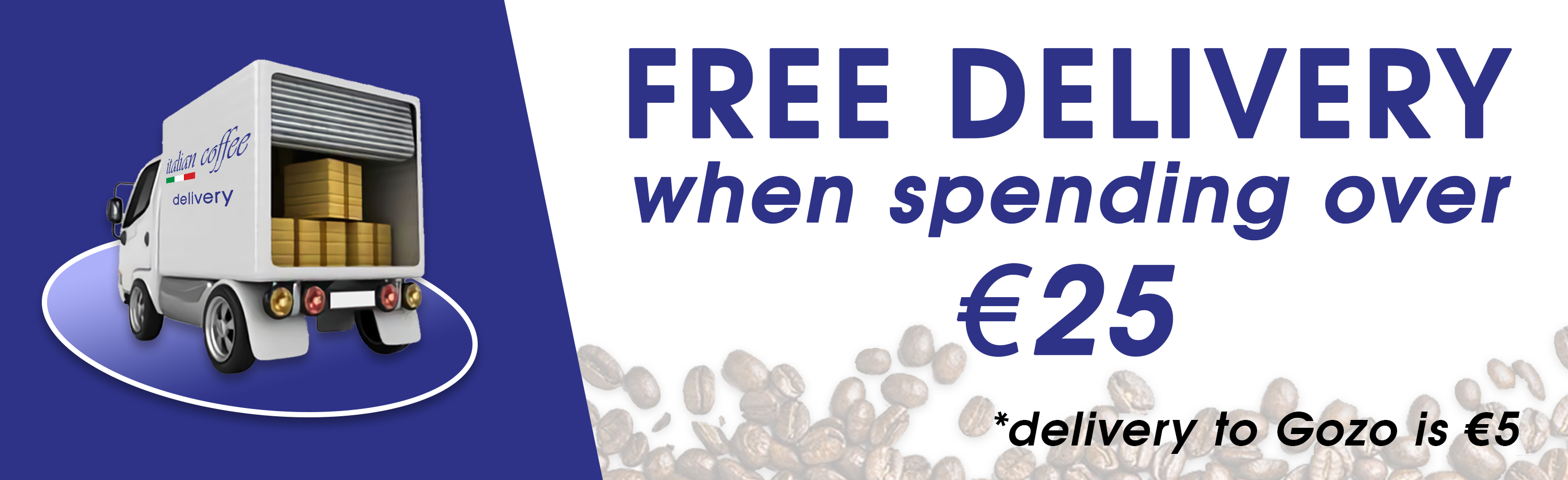 Free delivery when spending over €25
